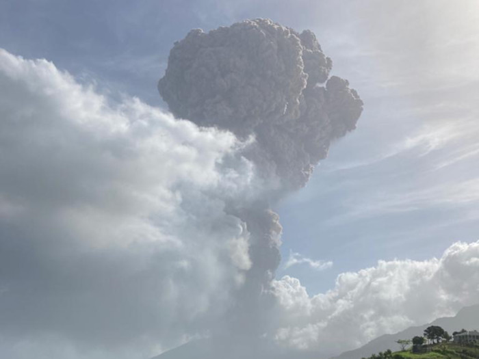 St Vincent Volcanic Eruption